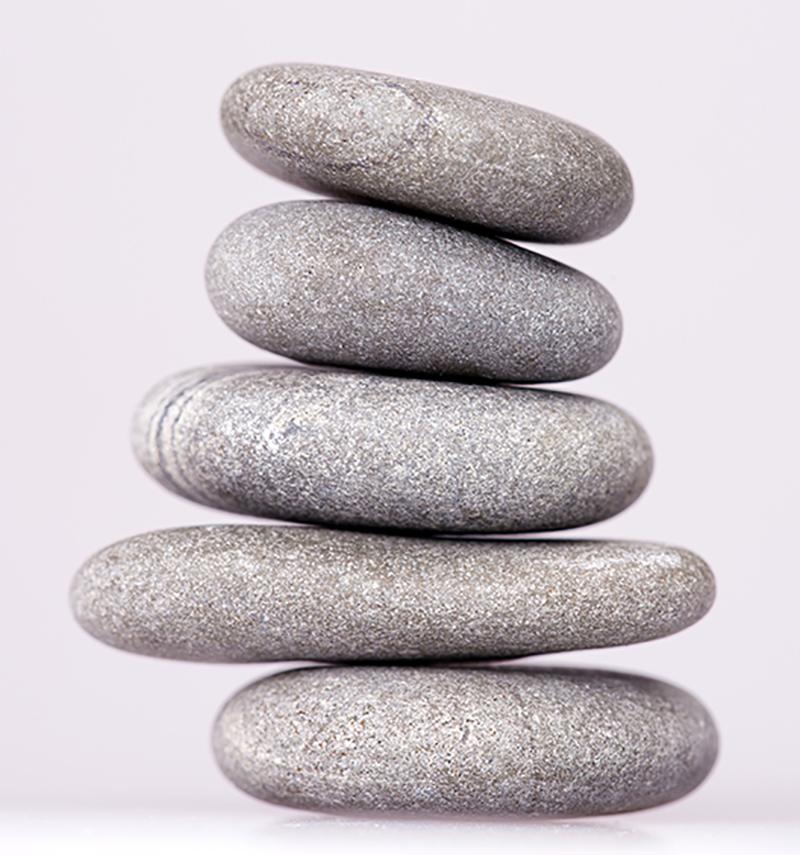Quantum Touch stenen stapel